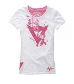Футболка Dainese T-Shirt Scratch Lady - Wht/Red