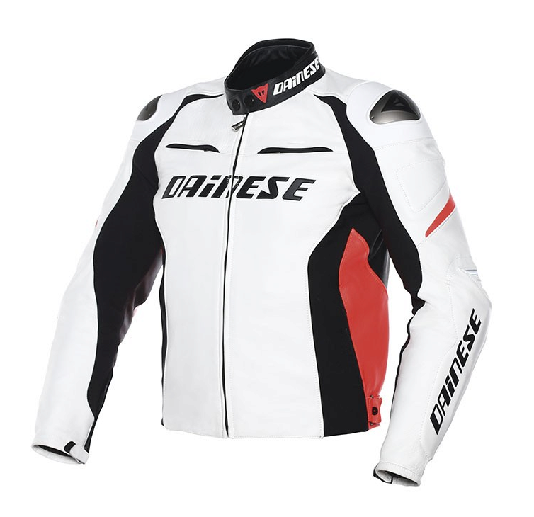 Куртка мужская Dainese Racing D1 - Wht/Blk/Red