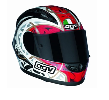 Шлем AGV GP-Pro Multi Ring - White/Red/Gunmetal
