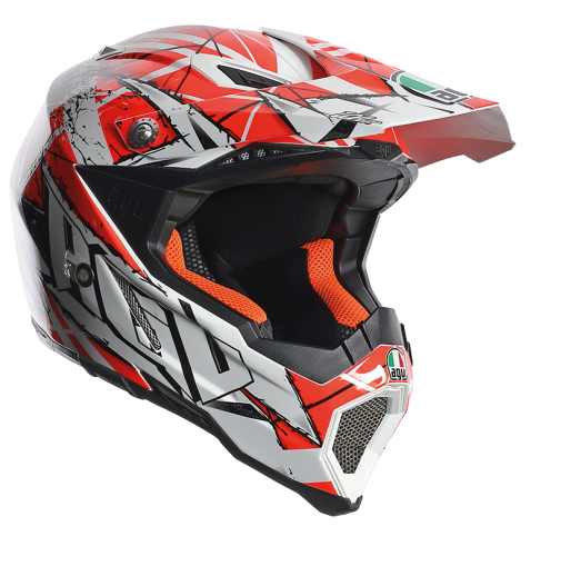 Шлем AGV AX-8 Evo Multi Scratch - White/Orange