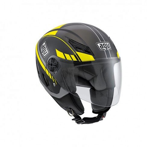 Шлем AGV Blade Multi - Human Black Metal/Silver/Yellow - M