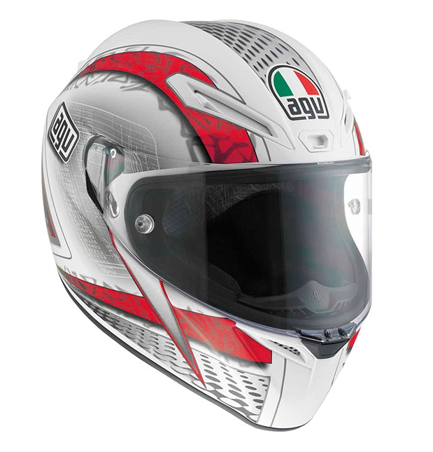 Шлем AGV GT-Veloce Multi Cyborg - White/Black/Red