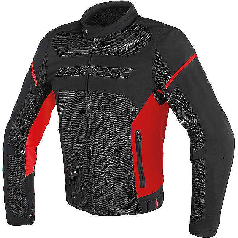Куртка мужская Dainese Air Frame D1 Tex Jacket Black/Black/Red-Fluo
