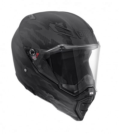 Шлем AGV AX-8 Naked Carbon Multi Fury - Carbon Black