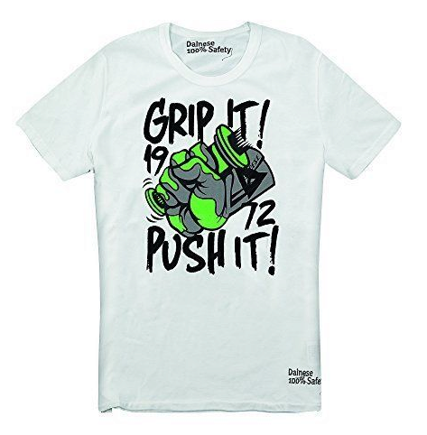 Футболка Dainese T-Shirt Grip It - Wht/Grn