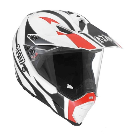 Шлем AGV AX-8 Dual Evo Multi Tour - White/Black/Red
