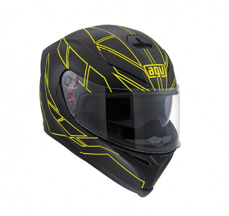 Шлем AGV K-5 Multi Hero - Black/Yellow Fluo