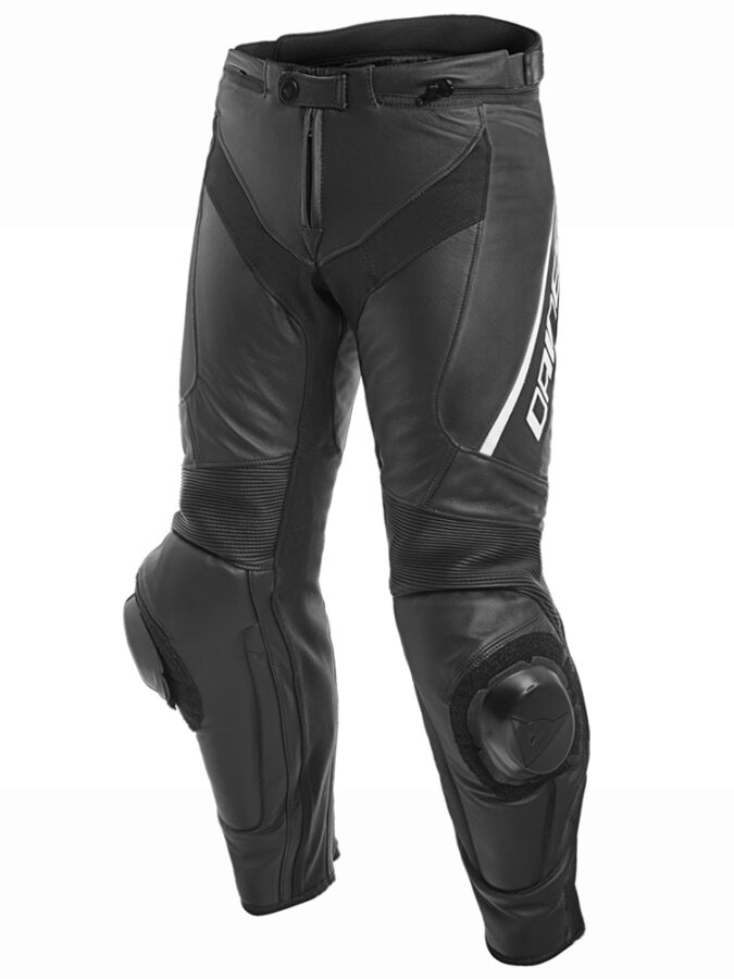 Брюки кожаные мужские Delta 3 Perf. Leather Pants Black/Black/White