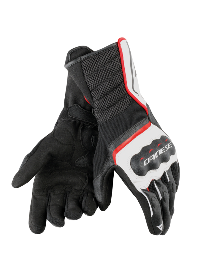 Перчатки мужские Dainese Air FastT Unisex Gloves Black/White/Red-Lala