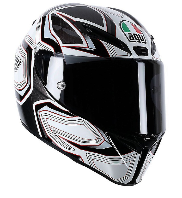 Шлем AGV GT-Veloce Multi Gravity - Black/White/Red