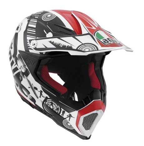 Шлем AGV AX-8 Evo Multi Cool - White/Black/Red
