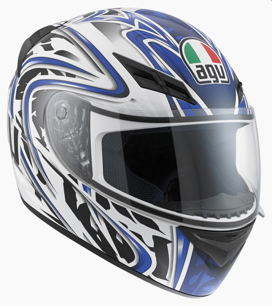 Шлем AGV K-3 Multi Wire - White/Blue