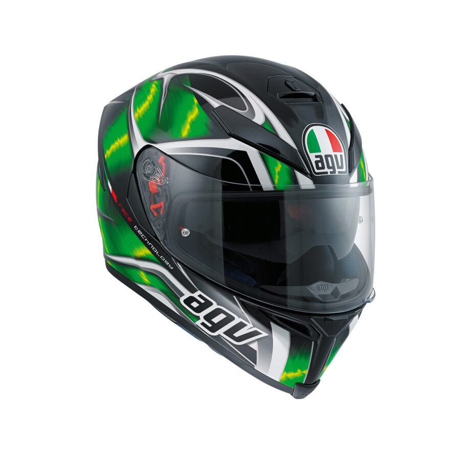 Шлем AGV K-5 S Multi Hurricane Black/Green/White New