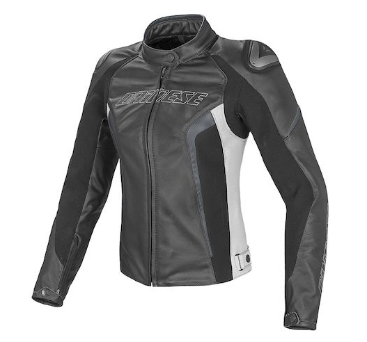 Куртка женская Dainese Racing D1 Perforated Lady - Blk/Wht/Grey