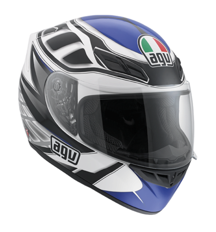 Шлем AGV K-4 Evo Multi Diapason - White/Black/Blue