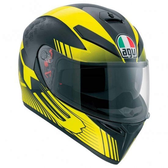 Шлем AGV K-3 SV Multi PLK -  Glimpse Black Metal/Yellow