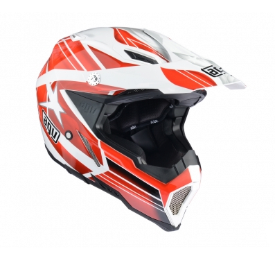 Шлем AGV AX-8 Evo Multi Flagstars - White/Red