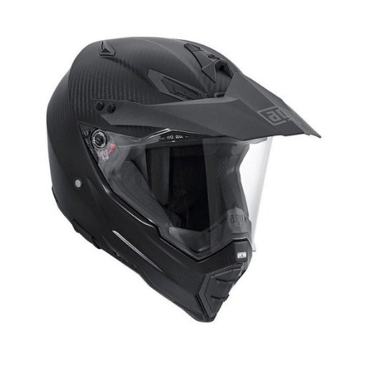 Шлем AGV AX-8 Dual Carbon Solid - Carbon Matt