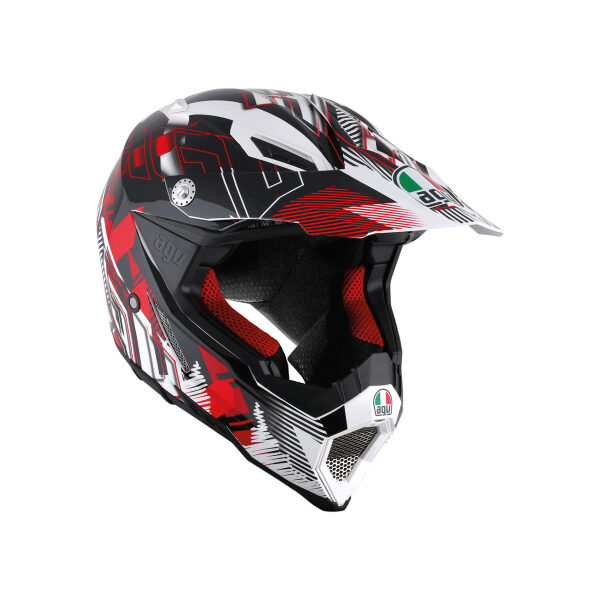 Шлем AGV AX-8 Evo -  Nofoot White/Red