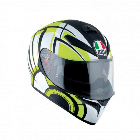 Шлем AGV K-3 SV MULTI -  AVIOR MATT WHITE/LIME