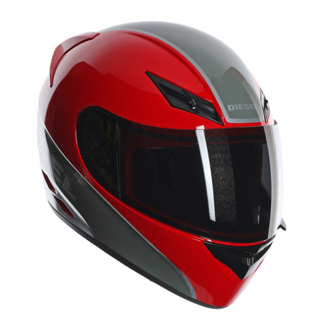 Шлем AGV Diesel Full-Jack Multi Logo - Red/Gunmetal/Grey