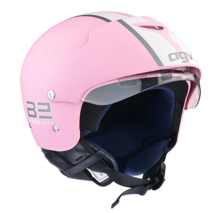Шлем AGV New Bali Multi B2 Trendy Plain - Pink/White