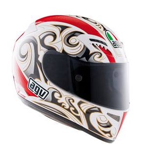 Шлем AGV T-2 Multi Maori - White/Red/Gold