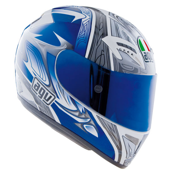 Шлем AGV T-2 Multi Shade - White/Blue/Silver