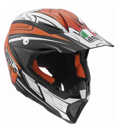 Шлем AGV AX-8 Evo Multi Factory - Black/White/Orange