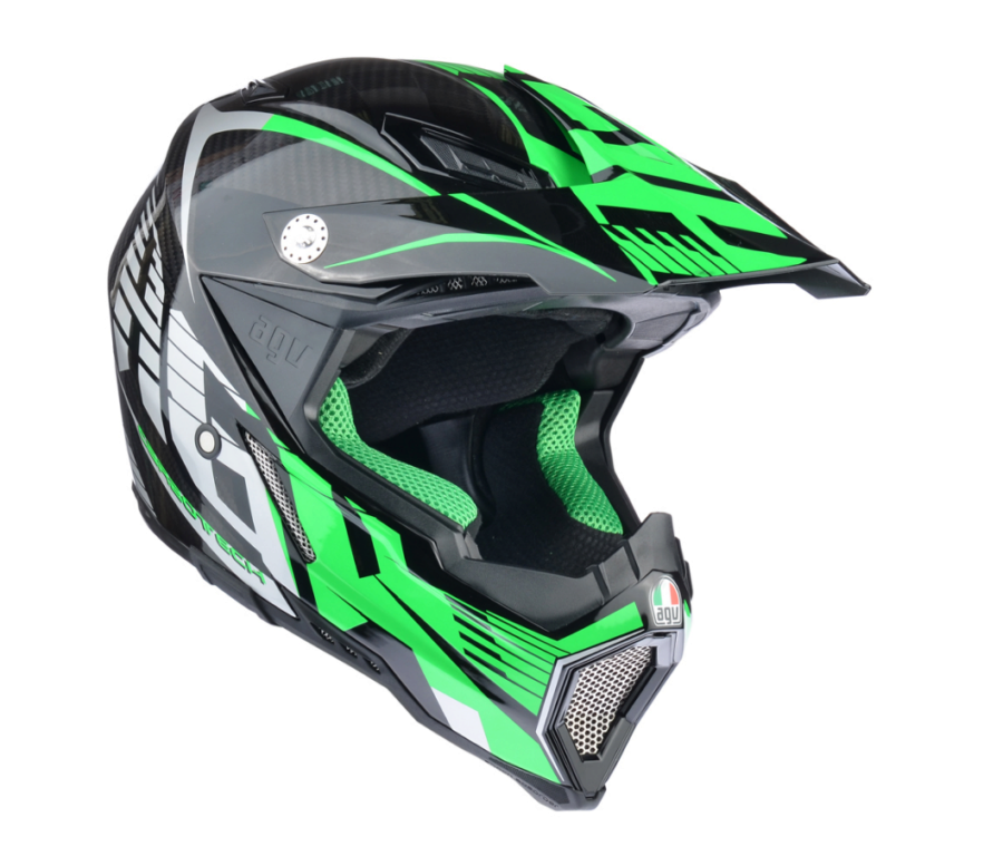 Шлем AGV AX-8 Carbon Multi Carbontech - Green/Grey