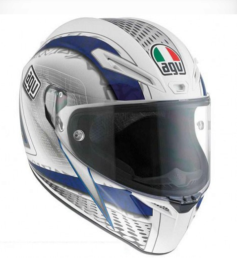 Шлем AGV GT-Veloce Multi Cyborg - White/Black/Blue