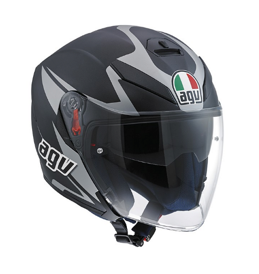 Шлем AGV K-5 Jet Multi Threesixty - Matt Black/Grey