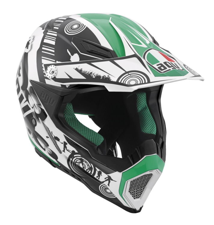 Шлем AGV AX-8 Evo Multi Cool - White/Black/Green