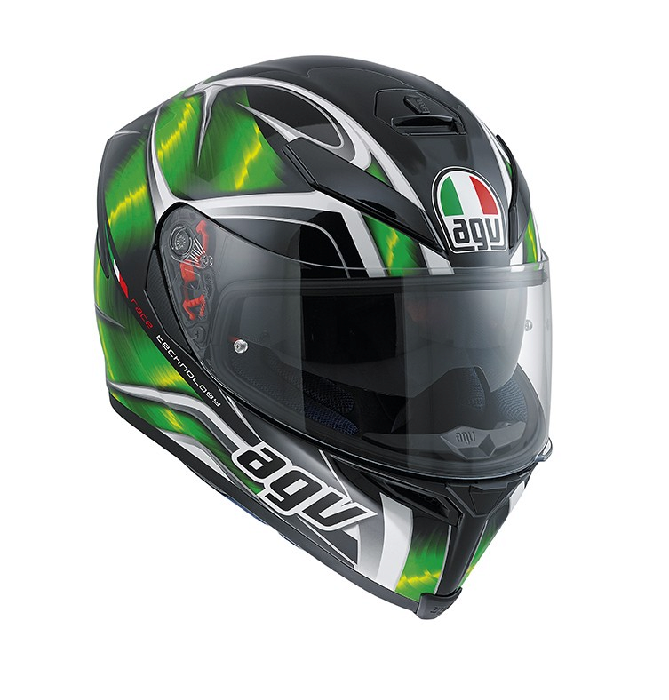 Шлем AGV K-5 Multi Hurricane - Black/Green/White
