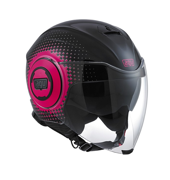 Шлем AGV Fluid Multi Pix - Black/Fucsia
