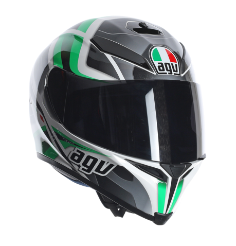 Шлем AGV K-5 Multi Transformer - White/Black/Green