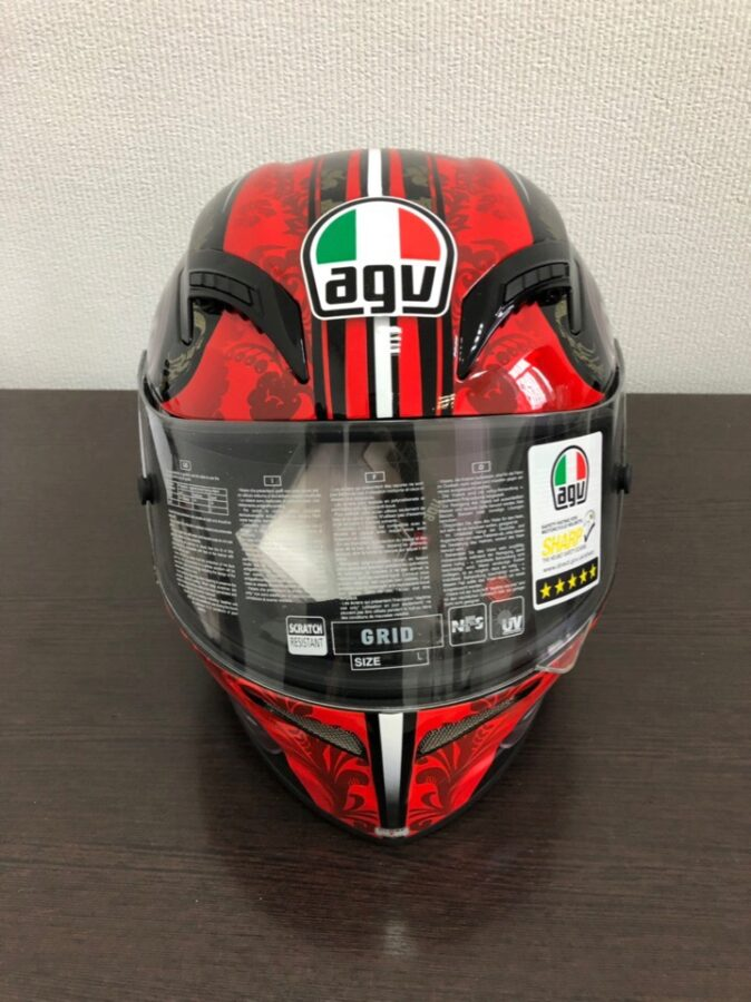 Шлем AGV Grid Multi-Stigma Black/Red L на запчасти