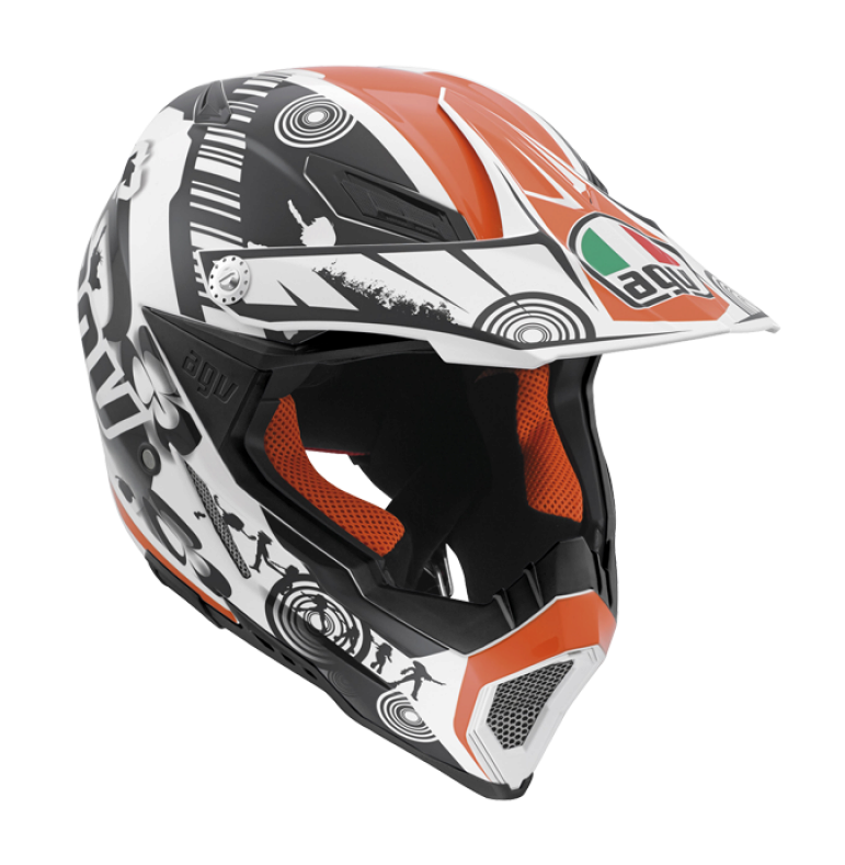 Шлем AGV AX-8 Evo Multi Cool - White/Black/Orange