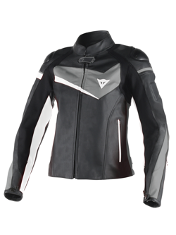 Куртка женская Dainese Veloster Lady Leather Jacket Black/Anthracite/White