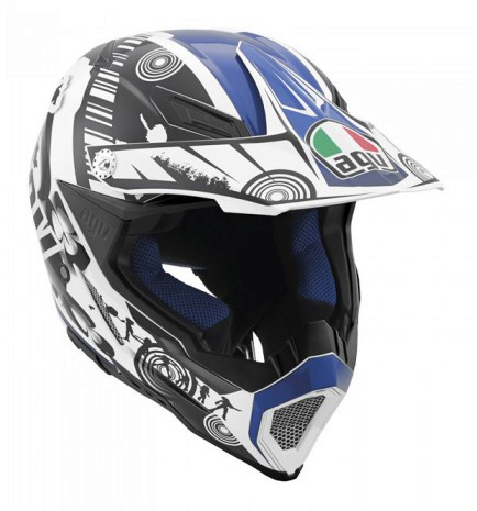 Шлем AGV AX-8 Evo Multi Cool - White/Black/Blue