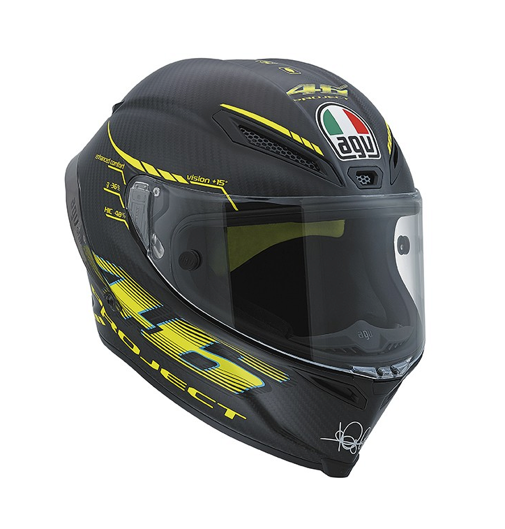 Шлем AGV Pista GP Top Project 46 2.0 - Carbon Matt