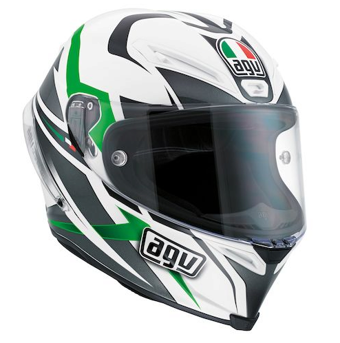 Шлем AGV Corsa Multi Velocity White/Black/Green