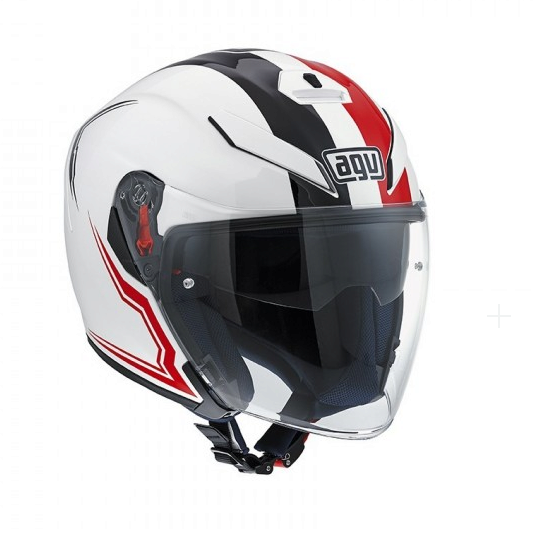 Шлем AGV K-5 Jet Multi Brave - White/Black/Red