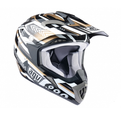 Шлем AGV MT-X Junior Multi - BLACK/GUNMETAL/GOLD