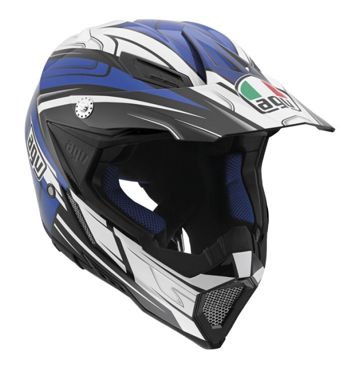 Шлем AGV AX-8 Evo Multi Factory - Black/White/Blue