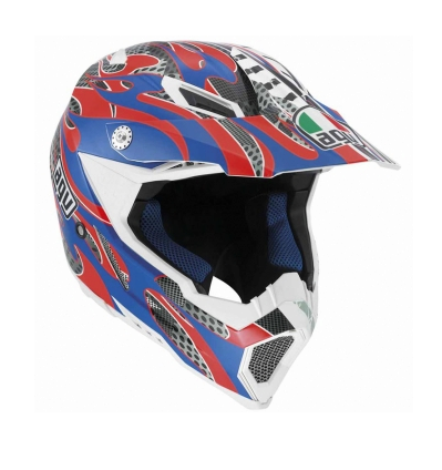 Шлем AGV AX-8 Evo Multi Flame - Red/Blue