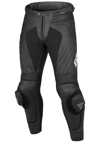 Брюки кожаные мужские Dainese Delta Pro Evo C2 Perf Leather Pants - Blk/Blk