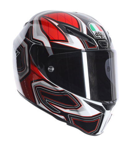 Шлем AGV GT-Veloce Multi Gravity - White/Black/Red