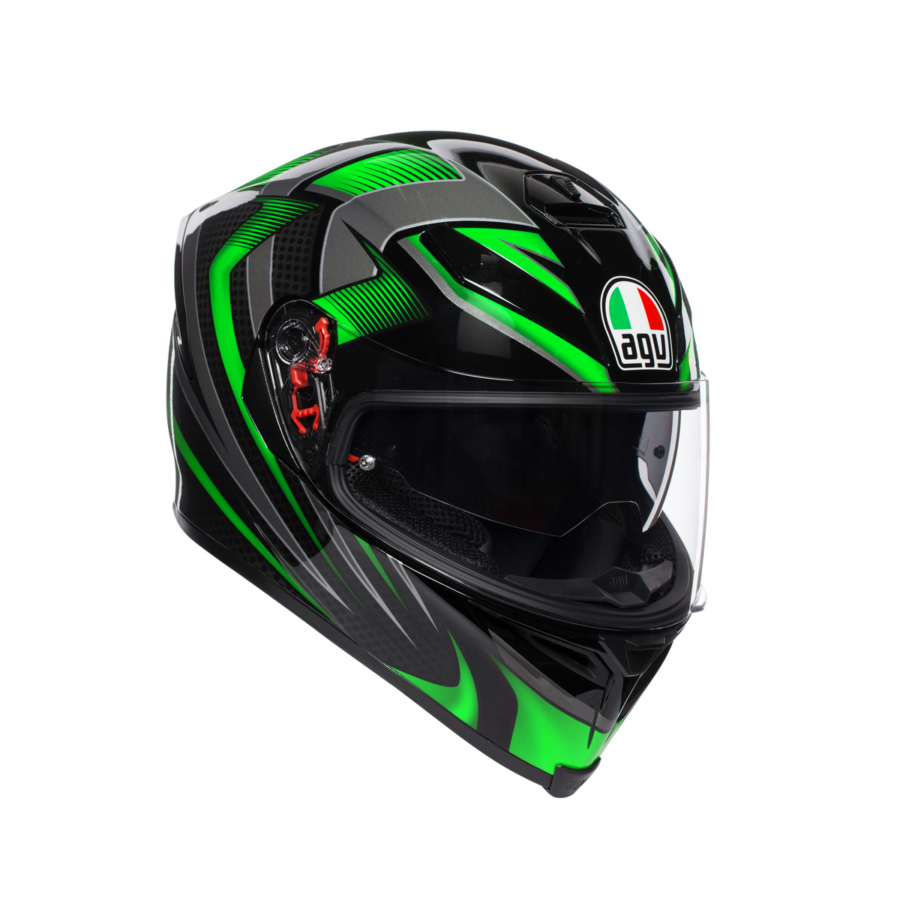 Шлем AGV K-5 S Multi PLK Hurricane 2.0 Black/Green