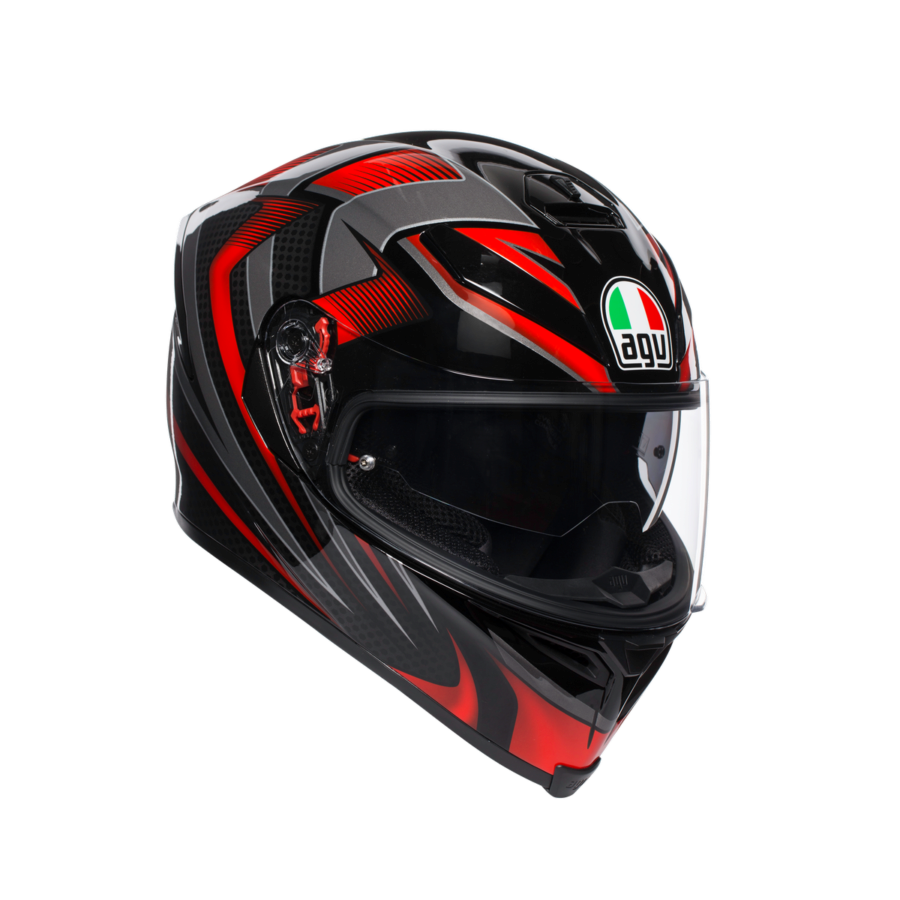 Шлем AGV K-5 S Multi PLK Hurricane 2.0 Black/Red